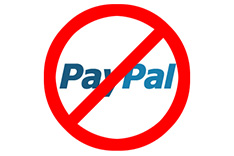 PayPal spærring