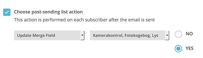 MailChimp autoflow