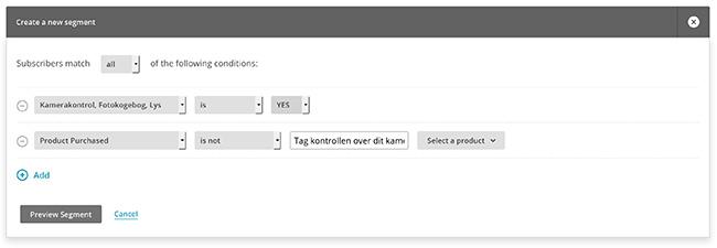 MailChimp segmentering